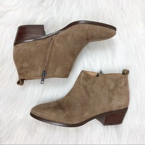 J Crew Light Brown Zip Side Booties